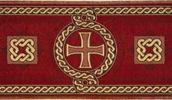 Immagine di Stolone cordone annodato H. cm 18 (7,1 inch) Poliestere Acetato Rosso Celeste Verde Viola Giallo Zecchino Bianco Bianco/Avana Tessuto per Paramenti liturgici