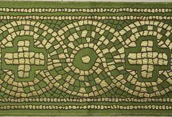 Immagine di Stolone Croce Mosaico H. cm 18 (7,1 inch) Poliestere Acetato Rosso Celeste Verde Viola Giallo Zecchino Bianco Bianco/Avana Tessuto per Paramenti liturgici