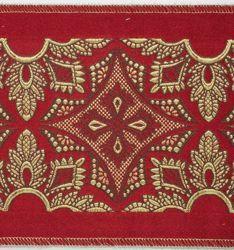 Immagine di Stolone Filo oro Croce Rombo retinato H. cm 18 (7,1 inch) Poliestere Acetato Rosso Verde Viola Bianco Avorio/Bordeaux Tessuto per Paramenti liturgici