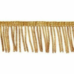 Picture of Fringe Trim Bullion 300 gold threads H. cm 4 (1,6 inch) Metallic thread Viscose Passementerie for liturgical Vestments