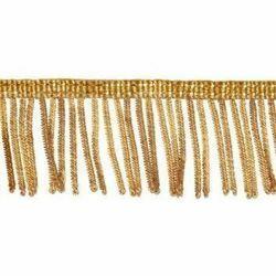 Immagine di Frangia Canuttiglia oro 300 Vermiglioni H. cm 4 (1,6 inch) filato metallico Viscosa Passamaneria per Paramenti Sacri