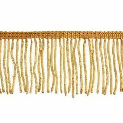 Picture of Fringe Trim Bullion 300 gold threads H. cm 6 (2,36 inch) Metallic thread Viscose Passementerie for liturgical Vestments