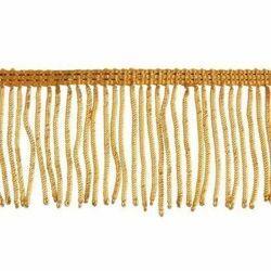 Immagine di Frangia Canuttiglia oro 300 Vermiglioni H. cm 6 (2,36 inch) filato metallico Viscosa Passamaneria per Paramenti Sacri