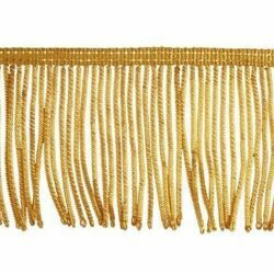 Picture of Fringe Trim Bullion 300 gold threads H. cm 8 (3,1 inch) Metallic thread Viscose Passementerie for liturgical Vestments