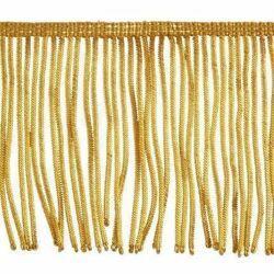 Imagen de Franja de Canutilho oro 300 hilos H. cm 10 (3,9 inch) en hilo metálico Viscosa Pasamanería para Vestiduras litúrgicas