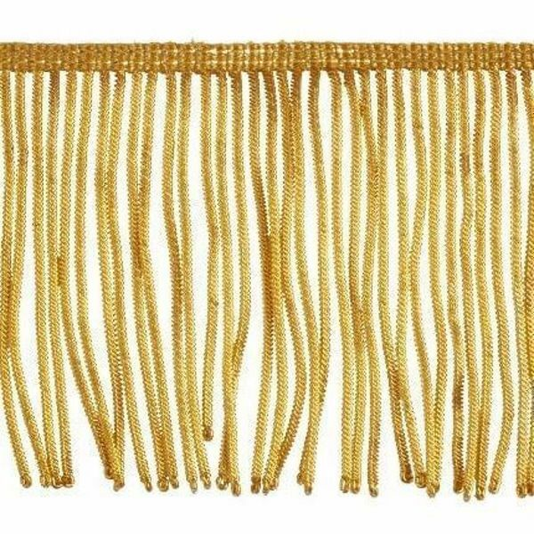 Picture of Fringe Trim Bullion 300 gold threads H. cm 10 (3,9 inch) Metallic thread Viscose Passementerie for liturgical Vestments
