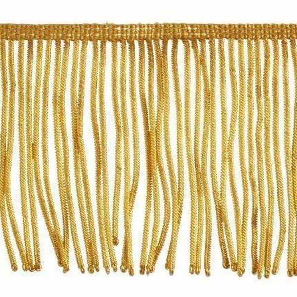 Picture of Fringe Trim Bullion 300 gold threads H. cm 10 (3,9 inch) Metallic thread Viscose Passementerie for liturgical Vestments