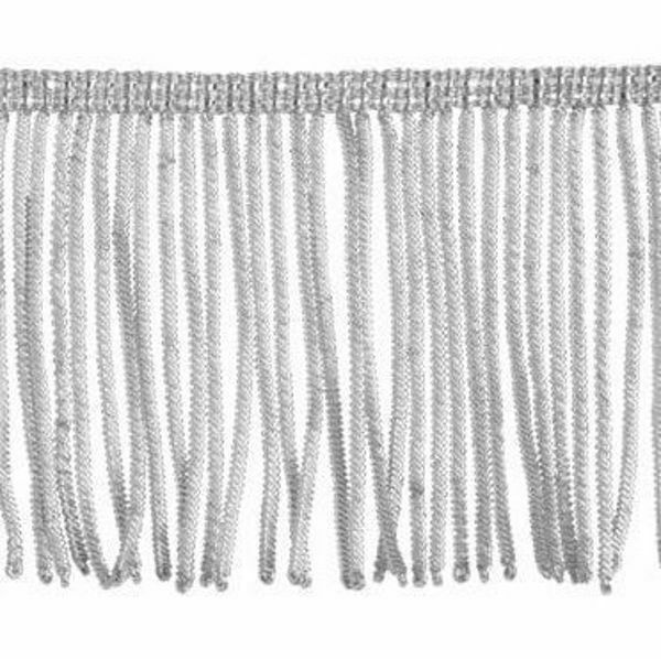 Picture of Fringe Trim Bullion 260 Silver threads H. cm 8 (3,1 inch) Metallic thread Viscose Passementerie for liturgical Vestments