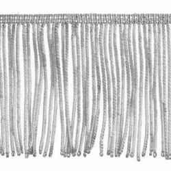 Picture of Fringe Trim Bullion 260 Silver threads H. cm 10 (3,9 inch) Metallic thread Viscose Passementerie for liturgical Vestments