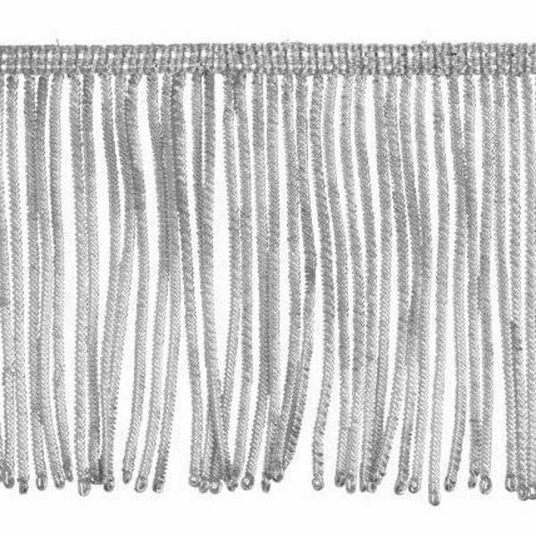 Picture of Fringe Trim Bullion 260 Silver threads H. cm 10 (3,9 inch) Metallic thread Viscose Passementerie for liturgical Vestments