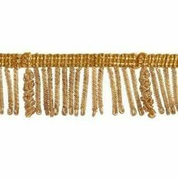 Picture of Bullion Fringe Trim Gold H. cm 3 (1,2 inch) Metallic thread Viscose Passementerie for liturgical Vestments
