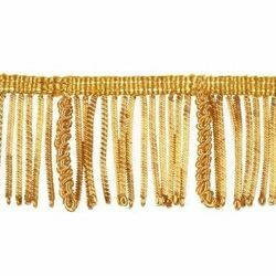 Picture of Bullion Fringe Trim Gold H. cm 5 (2,0 inch) Metallic thread Viscose Passementerie for liturgical Vestments