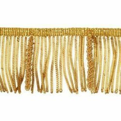 Picture of Bullion Fringe Trim Gold H. cm 6 (2,36 inch) Metallic thread Viscose Passementerie for liturgical Vestments