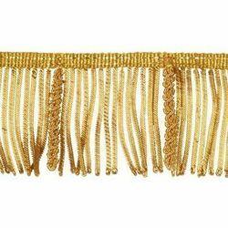 Immagine di Frangia Canuttiglia operata oro H. cm 6 (2,36 inch) filato metallico Viscosa Passamaneria per Paramenti Sacri