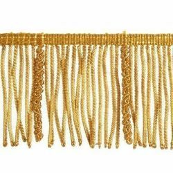 Picture of Bullion Fringe Trim Gold H. cm 7 (2,8 inch) Metallic thread Viscose Passementerie for liturgical Vestments