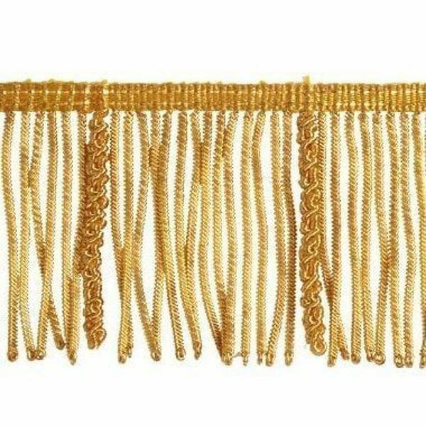 Immagine di Frangia Canuttiglia operata oro H. cm 7 (2,8 inch) filato metallico Viscosa Passamaneria per Paramenti Sacri
