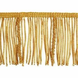 Picture of Bullion Fringe Trim Gold H. cm 8 (3,1 inch) Metallic thread Viscose Passementerie for liturgical Vestments
