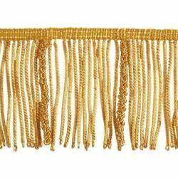 Immagine di Frangia Canuttiglia operata oro H. cm 8 (3,1 inch) filato metallico Viscosa Passamaneria per Paramenti Sacri