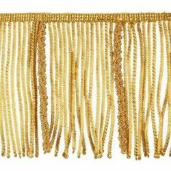Picture of Bullion Fringe Trim Gold H. cm 10 (3,9 inch) Metallic thread Viscose Passementerie for liturgical Vestments