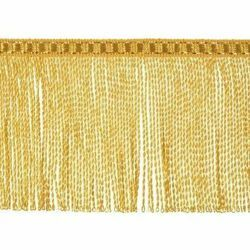 Picture of Twisted Fringe Trim gold H. cm 8 (3,1 inch) Metallic thread Viscose Passementerie for liturgical Vestments