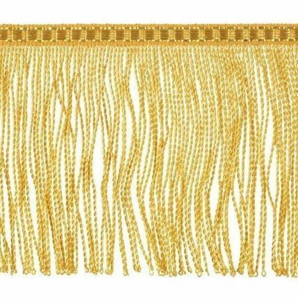 Immagine di Frangia ritorta oro metallo inox H. cm 10 (3,9 inch) filato metallico Viscosa Passamaneria per Paramenti Sacri