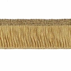Picture of Cord Fringe Trim Gold chain H. cm 3 (1,2 inch) Viscose Polyester Gold Passementerie for liturgical Vestments