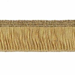 Imagen de Franja Cordón Cadena de oro H. cm 3 (1,2 inch) Viscosa Poliéster Oro Pasamanería para Vestiduras litúrgicas