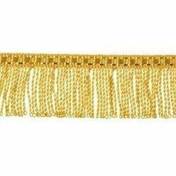 Immagine di Frangia ritorta oro metallo inox H. cm 3 (1,2 inch) filato metallico Viscosa Passamaneria per Paramenti Sacri