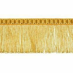 Picture of Twisted Fringe Trim gold H. cm 4 (1,6 inch) Metallic thread Viscose Passementerie for liturgical Vestments