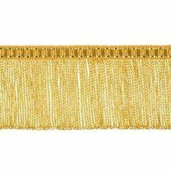 Immagine di Frangia ritorta oro metallo inox H. cm 5 (2,0 inch) filato metallico Viscosa Passamaneria per Paramenti Sacri