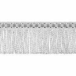 Immagine di Frangia ritorta metallo argento H. cm 3 (1,2 inch) filato metallico Viscosa Passamaneria per Paramenti Sacri