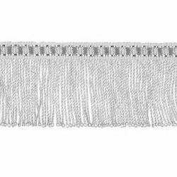 Immagine di Frangia ritorta metallo argento H. cm 4 (1,6 inch) filato metallico Viscosa Passamaneria per Paramenti Sacri