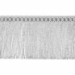 Picture of Twisted Fringe Trim silver metal H. cm 5 (2,0 inch) Metallic thread Viscose Passementerie for liturgical Vestments