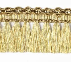 Picture of Trim Fringe Gold H. cm 5 (2,0 inch) Viscose Polyester Passementerie for liturgical Vestments