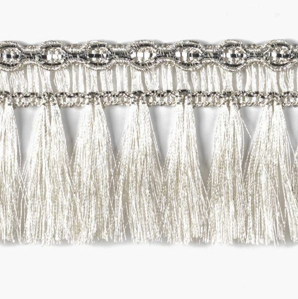 Picture of Trim Fringe Silver H. cm 5 (2,0 inch) Viscose Polyester Passementerie for liturgical Vestments
