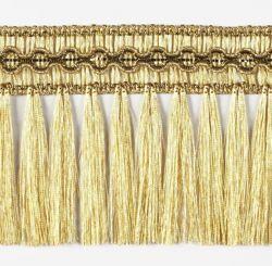 Immagine di Frangia oro specchietto H. cm 8 (3,1 inch) Viscosa Poliestere Passamaneria per Paramenti Sacri