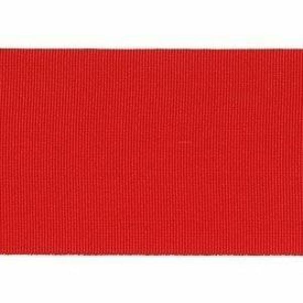 Imagen de Cinta Canulada roja H cm 5 (2,0 inch) de Acetato y Poliéster Rojo Brillante Borde Ribete para Vestiduras litúrgicas