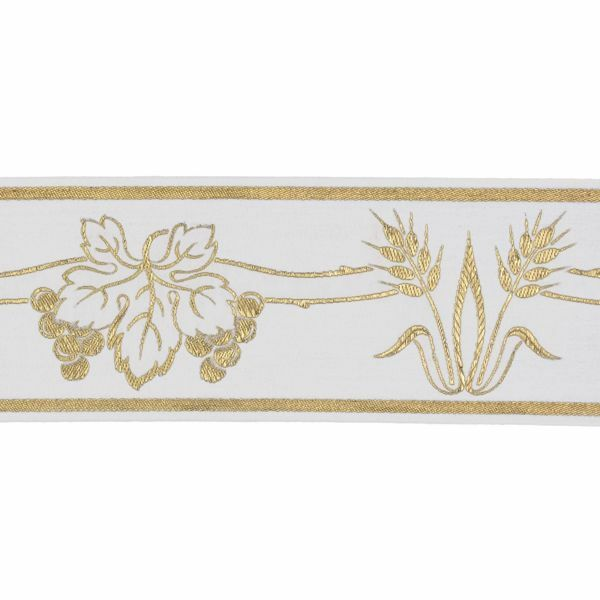 Picture of Trim Gold Eears of Corn Grapes H. cm 10 (3,9 inch) Cotton blend Border Braid Passementerie for liturgical Vestments