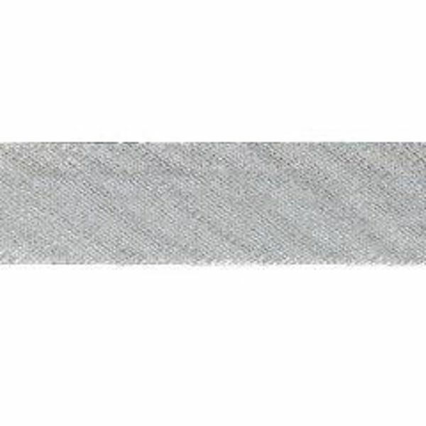 Picture of Bias Tape Diagonal Trim silver H. cm 1,4 (0,55 inch) Silk blend Border Braid Passementerie for liturgical Vestments