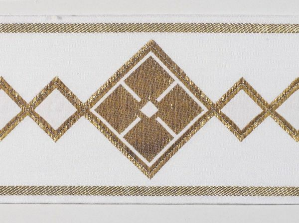 Picture of Trim Rhombus H. cm 10 (3,9 inch) Cotton blend Border Braid Passementerie for liturgical Vestments