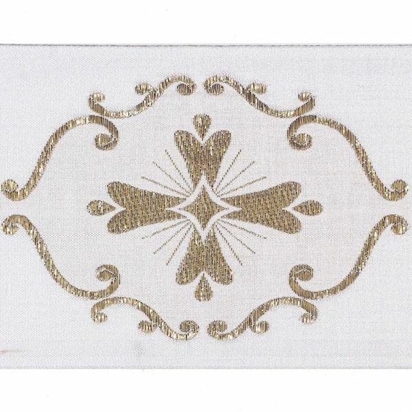 Picture of Trim Gold Giotto H. cm 10 (3,9 inch) Cotton blend Border Braid Passementerie for liturgical Vestments