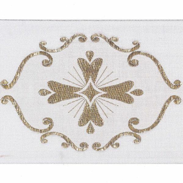 Imagen de Borde oro Giotto H. cm 10 (3,9 inch) mezcla Algodón Ribete para Vestiduras litúrgicas