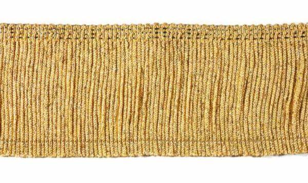 Immagine di Frangia tripolone H. cm 7 (2,8 inch) misto Cotone Oro Passamaneria per Paramenti Sacri