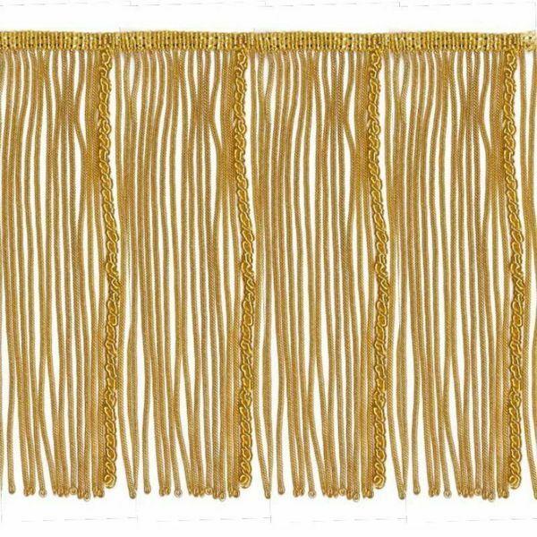 Picture of Bullion Fringe Trim Gold H. cm 19 (7,5 inch) Metallic thread Viscose Passementerie for liturgical Vestments