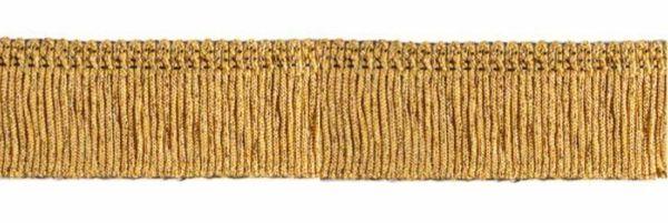 Immagine di Frangia tripolone H. cm 4 (1,6 inch) misto Cotone Oro Passamaneria per Paramenti Sacri