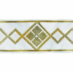 Picture of Trim Rhombus H. cm 5 (2,0 inch) Cotton blend Border Braid Passementerie for liturgical Vestments