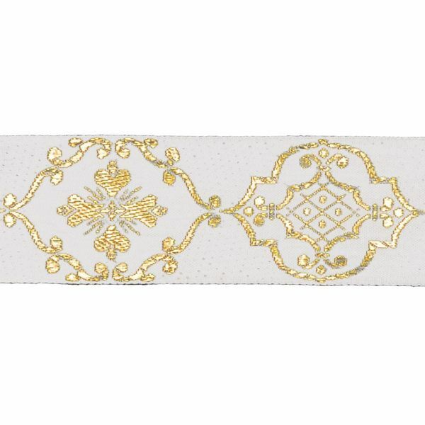 Picture of Trim Gold Giotto H. cm 5 (2,0 inch) Cotton blend Border Braid Passementerie for liturgical Vestments