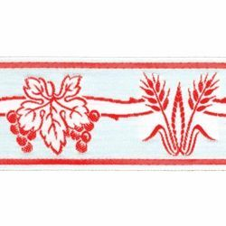 Picture of Trim Eears of Corn Grapes H. cm 5 (2,0 inch) Cotton blend Brilliant Green Brilliant Havana Brilliant Red Brilliant Violet Border Braid Passementerie for liturgical Vestments