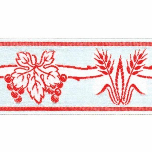 Imagen de Borde Uvas Espigas H. cm 5 (2,0 inch) mezcla Algodón Verde Brillante Habana Brillante Rojo Brillante Morado Brillante Ribete para Vestiduras litúrgicas
