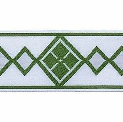 Picture of Trim Rhombus H. cm 5 (2,0 inch) Cotton blend Brilliant Green Brilliant Havana Brilliant Red Brilliant Violet Border Braid Passementerie for liturgical Vestments